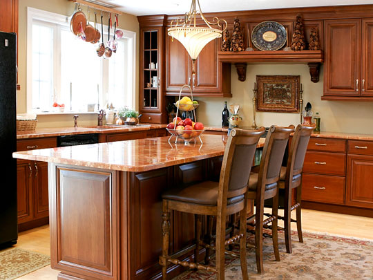 kitchen chairs - kitchen island